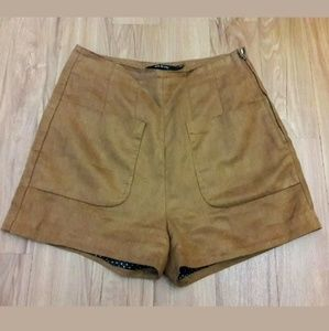 ARK & CO Soft Brown High Shorts Suede Feel